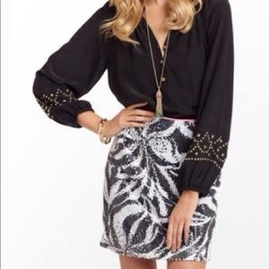 Lilly Pulitzer Sneak A Peek Sequin Harvey Skirt